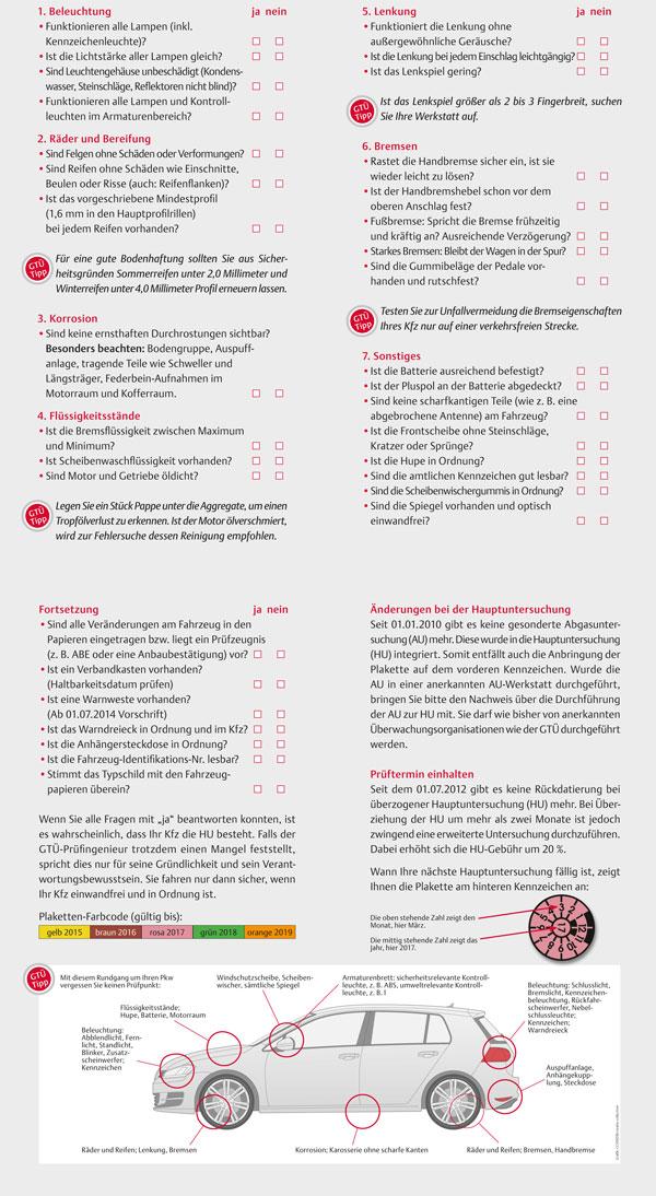 Checkliste PKW